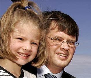 Jan Peter Balkenende en dochter Amélie