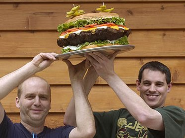 15-pounder op het menu van Amerikaans retsaurant