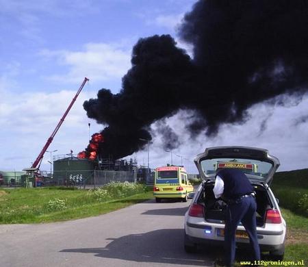 Opslagtank bij NAM in Warffum ontploft