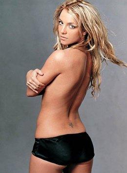 Britney Spears, hier nog zonder buik