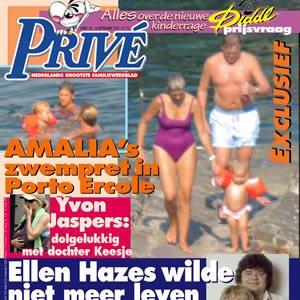 Willem Alexander en zijn gezin op de cover van de Privé