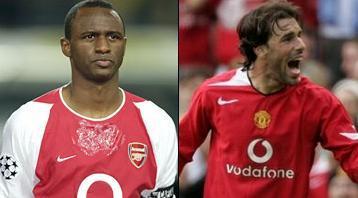 Vieira (links) en Van Nistelrooy