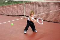 Daniel, de tennissende baby