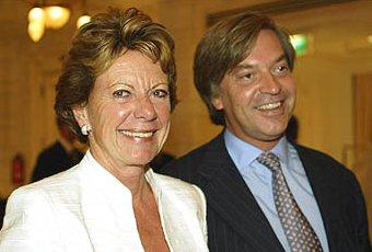 Jan-Dirk Paarlberg met vriendin Neelie Kroes