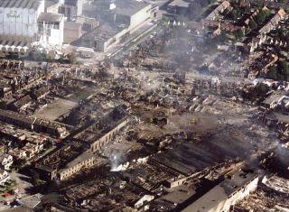 Vuurwerkramp verwoest wijk