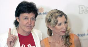Paul McCartney en zijn aastaande ex-eega Heather Mills
