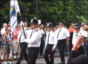 Politie in de Londonse Gay Parade