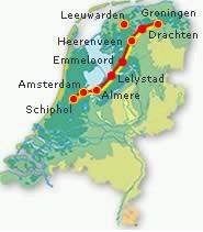 Kaart Zuiderzeelijn