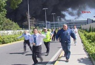 Brand op de luchthaven van Istanbul