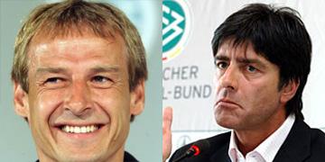 Jürgen Klinsmann (links) en Joachim Löw