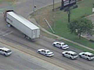 Truck achtervolging