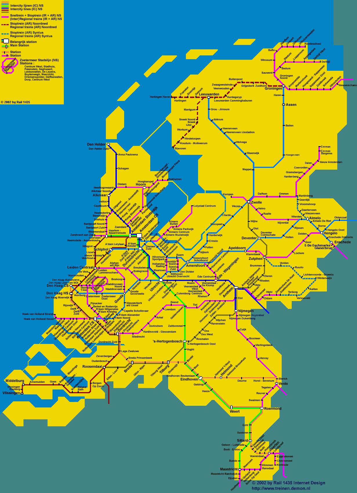 nederland vroeger kaart