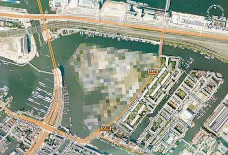 Kattenburg op Google Earth