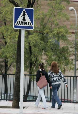 Verkeersbord in Fuenlabrada