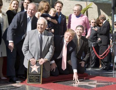 Donald Trump op de Hollywood Walk Of Fame