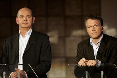 Jan Marijnissen en Wouter Bos