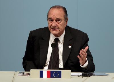De Franse president Jacques Chirac