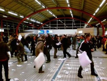 Kussengevecht Utrecht Centraal