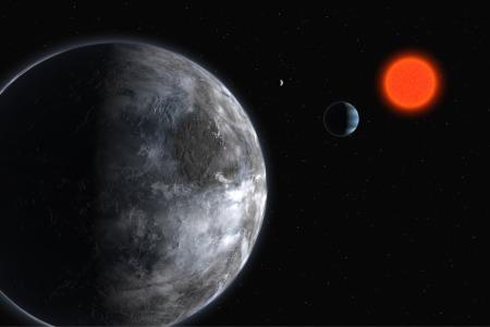 Zo zou Gliese 581c er uit kunnen zien