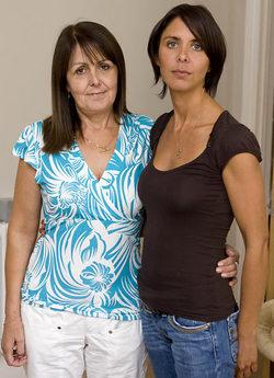 Catherine Brown met moeder