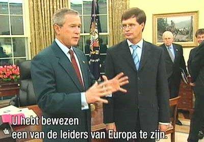 Balkenende ontmoet Bush