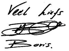 Handtekening Boris