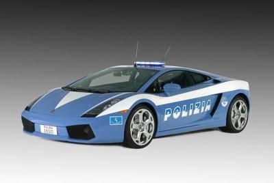 De politie-Lamborgini