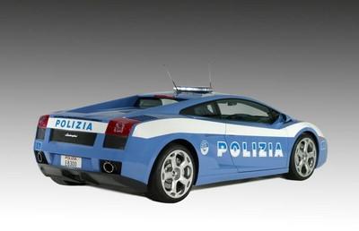 De politie-Lamborgini achterkant