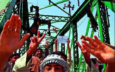 De opgehangen Amerikanen in Fallujah