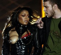 Janet Jackson en Just Timberlake tijdens de halftimeshow