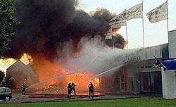 Brand in Groningen