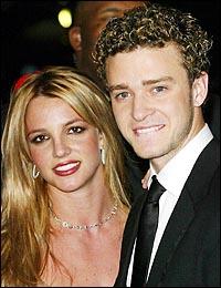 Justin en zijn ex-vriendin Britney Spears