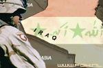 Irak kaartje met soldaat