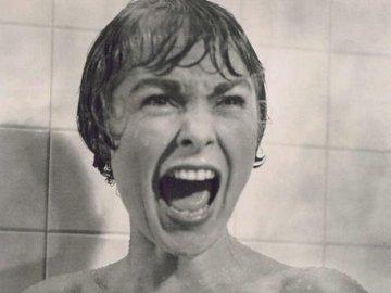 Janet Leigh schreeuwt het uit in Psycho