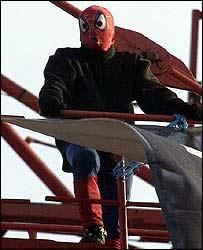 Spiderman in Londen