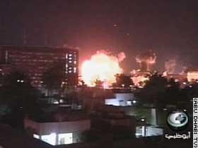 Hevige bombardementen op Bagdad